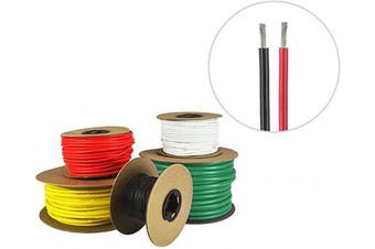 (1.5m Each Colour, Red & Black) - 16 AWG Marine Wire - Tinned Copper Primary Boat Cable - Available in Black, Red, Yellow, Green, and White - Made in the USA