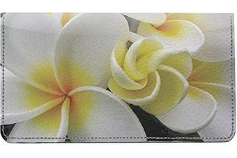 Hawaiian Flowers Leather Chequebook Cover