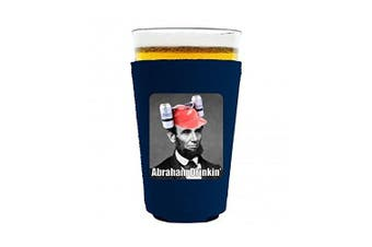 (Navy) - Coolie Junction Abraham Drinkin' Funny Pint Glass Coolie Navy