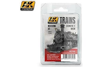 AK Interactive Trains Locomotive & Waggon Paints Set # 7000