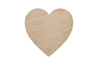 (25) - 7.6cm Wooden Heart, Natural Unfinished Wood Heart Cutout Shape, Wood Hearts (7.6cm Tall x 0.6cm Thick) - Bag of 25