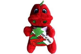 (12 Cms, Red) - NEW BABY CYMRU WALES WELSH NOVELTY SOUVENIR GIFT LITTLE SOFT TOY DRAGON TEDDY (12 Cms, Red)
