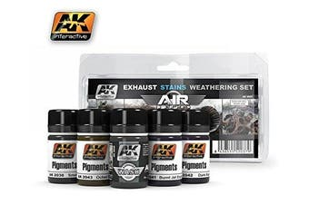 AK Interactive Exhaust Stains Weathering Set # 2037