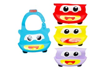 Baby & Me Baby Bib Silicone With Food Catcher Pocket Feeding Apron Assorted