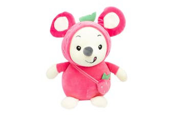 Soft Toys Stuffed Mouse Pink 24cm