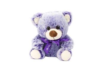 Bear 22cm - Purple With Ribbon
