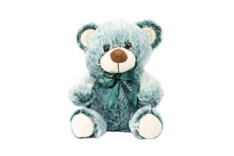 Bear 22cm - Green With Ribbon