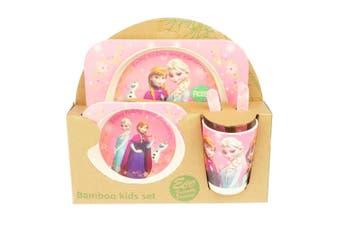 Bamboo Kids Feed Set - Frozen Pink
