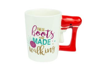 Curtis & Wade Mug with Boot Red Handle