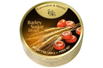 Cavendish and Harvey Barley Sugar Drops 200g Tin Sweets C&H Candy Lollies