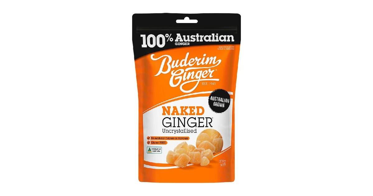 Buderim Ginger Naked Ginger 40g | Woolworths