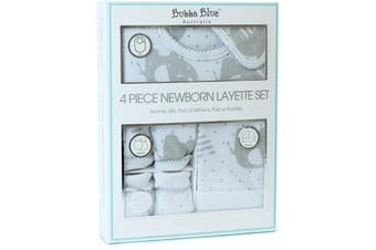 Bubba Blue Petite Elephant 4 Piece Newborn Layette Set