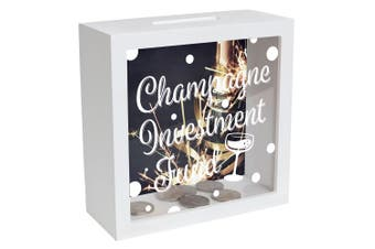 Gift Champagne Investment Fund Money Box