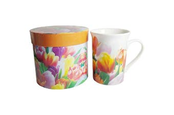 Lulu Grace New Bone China Tea Coffee Mug Tulips