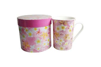 Lulu Grace New Bone China Tea Coffee Mug Tropical Flower