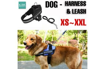 Dog Leash Mesh Adjustable Harness Braces Clothes Training Large Heavy Puppy Soft - Harness - XL