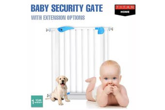 Baby Security Door Gates Child Play Pet Dog Extension Barrier Adjustable Stair - Baby Security Gate
