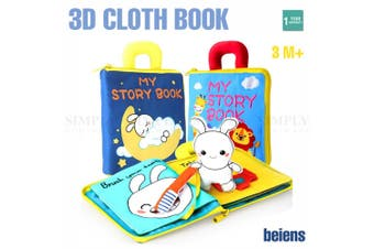 Cloth Book Activity Baby Kids Learning Fabric Shape Travel Toy Wash High Quality - Animals