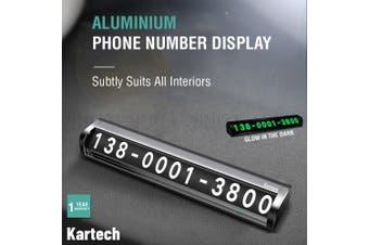 Aluminium Phone Number Display Temporary Car Double Parking Sign Card Stop Glow
