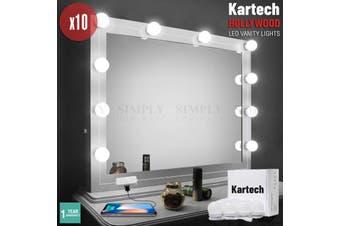 Vanity Lights Kit Makeup Mirror LED Hollywood Bathroom Dimmable Lighting Bulbs