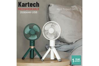 Kartech Rechargeable Mini USB Fan Battery Operated Portable Handheld Desk Quiet