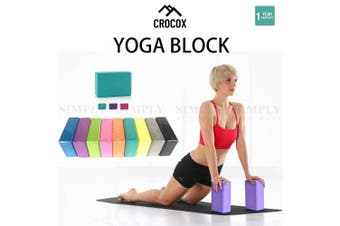 Yoga Foam Blocks Pilates Brick Home Exercise Fitness Stretching Gym Aid Sport AU - Mixed Colour / Yoga Block x2