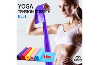 Yoga Straps Tension Stretch Belt Resistance Loop Band Pilates Gym Exercise Home - 1x