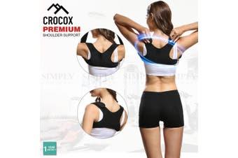 Shoulder Support Brace Back Posture Strap Belt Adjustable Unisex Corrector Women - 1x