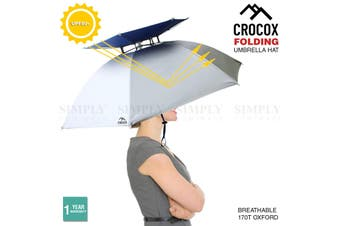 Crocox Fishing Umbrella Hat Folding Outdoor Golf Camping Headwear UV Mens Wide