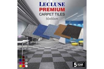 6m2 Lecluse Carpet Tiles Commercial Office Floor Domestic Heavy Duty Bulk Square - Navy 6m²