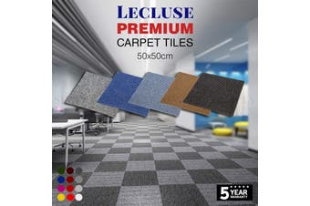 6m2 Lecluse Carpet Tiles Commercial Office Floor Domestic Heavy Duty Bulk Square - Extra Tile Adhesive (For 1m²)