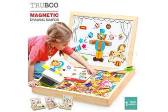 Truboo Kids Magnetic Drawing Board Toy Educational Doodle Pad Puzzle Children - Mermaid