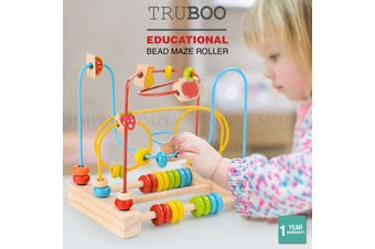 Truboo Wooden Bead Maze Educational Toy Kids Baby Activity Roller Coaster Wire - Animals