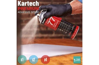 Kartech Spray Adhesive Glue Super Contact Strong Aerosol Can Wall Acoustic Foam - 4 Cans