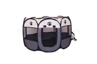 Pipers Pet Portable Playpen Dog Puppy Tent Enclosure Exercise Cat Cage 8 Panels