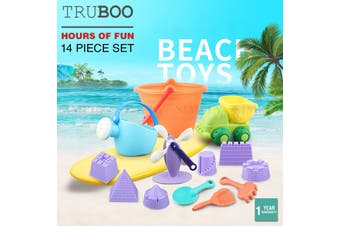 Truboo Kids Beach Toys Sand Water Play Set With Bucket And Mesh Bag Soft Plastic