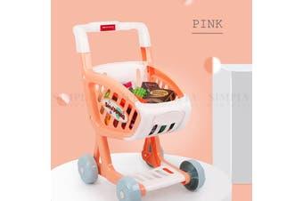 Truboo Kids Shopping Cart Supermarket Trolley Toy Pretend Play Food Children
