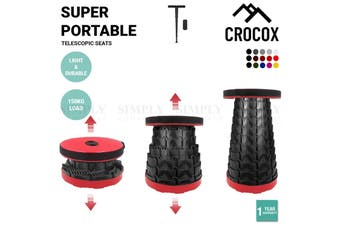 Crocox Portable Folding Stool Camping Telescopic Chair Stand Bar Step Travel Fis