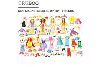 Truboo Kids Magnetic Dress Up Toy Educational Clothing Puzzle Set DIY For Girls