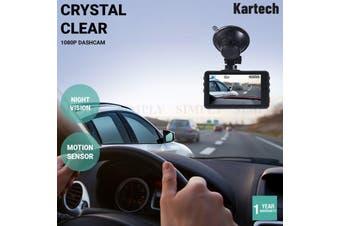 Kartech Dash Camera 1080p Front Car DVR Recorder Video Lens Night Vision Cam 170