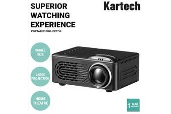 Kartech Portable Video Projector Home Theatre Mini HD 1080P LCD Movie Player Out