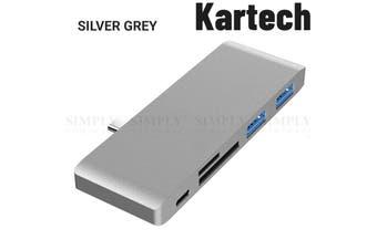 Kartech USB 3.0 Hub 5 Port Splitter Adapter Macbook Pro Air 5Gbps High Speed