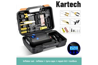 Kartech Tyre Pressure Inflator Car Tire Air Compressor Digital Gauge Auto Pump
