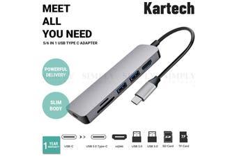 Kartech USB Type C Adapter 3.0 Hub Expansion Portable Splitter High Speed HDMI
