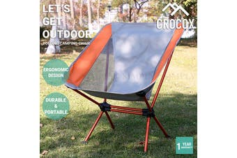 Crocox Folding Camping Chair Portable Lightweight Fishing Hiking Outdoor Seat - Upgraded