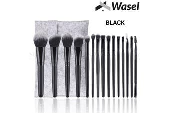 Wasel 15Pcs Makeup Brush Set Professional Cosmetic Kit Beauty Tools Powder