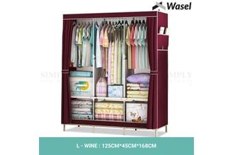 Wasel Portable Clothes Closet Large Wardrobe Storage Organiser Shelf Cabinet