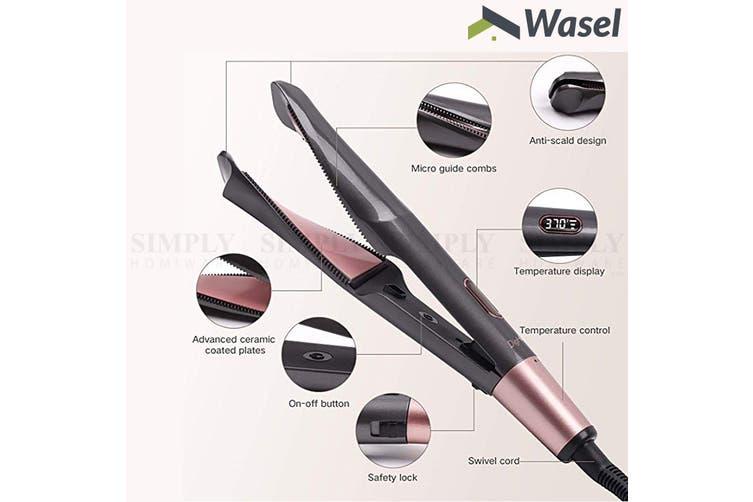 Wasel 2 In 1 Hair Curler Straightener Professional Ceramic Electric Salon Tool
