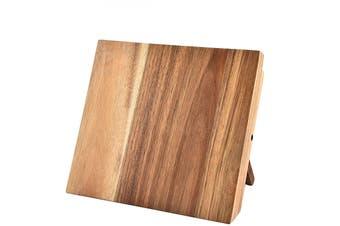 Lecluse Foldable Magnetic Knife Holder Wooden Stand Kitchen Rack Storage Block