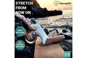 Permafit Wooden Yoga Wheel Cork Circle Pilates Ring Chest Backbends Fitness - Wood